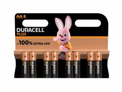 Bateria Duracell Alkaline Plus Extra Life MN1500/LR06 Mignon AA (8-Pack)