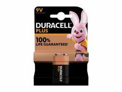 Battery Duracell Alkaline Plus Extra Life MN1604/6LR61 E-Block 9V (1-Pack)
