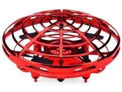 UFO Interactive Aircraft, Mini-Drone ohne Fernbedienung, Infrarot (Rot)
